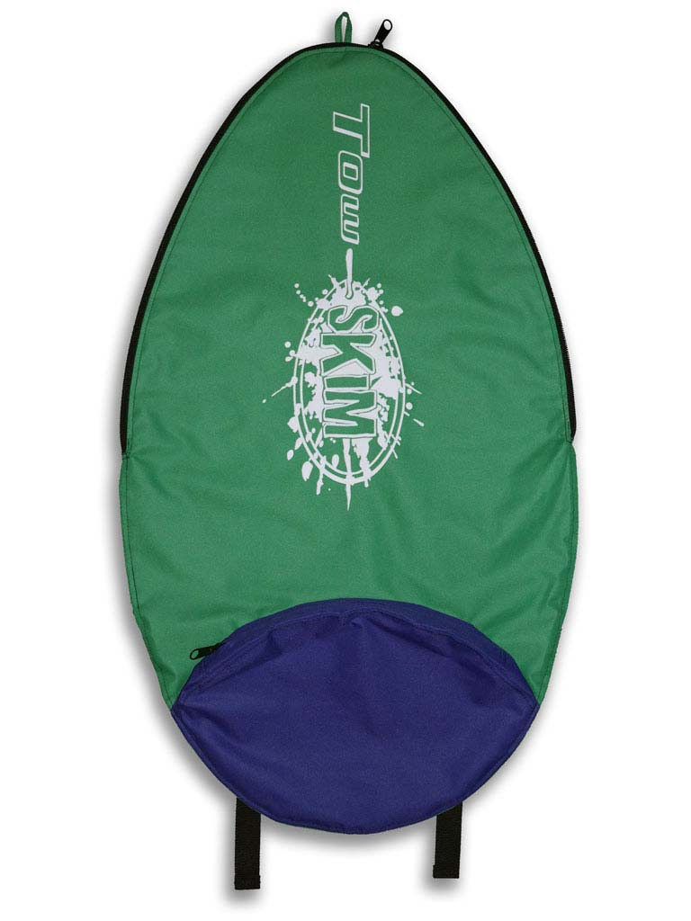 Tow Skim | What's Included | Board Bag - Green and Purple